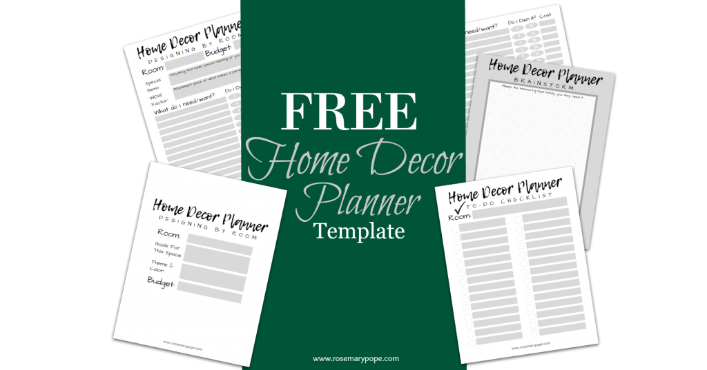 free home decor planner