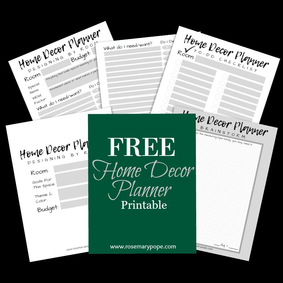 free home decor planner printable