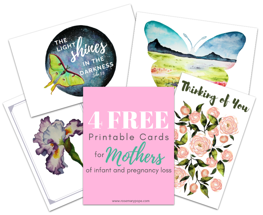 4 free printable cards mothers infant pregnancy loss