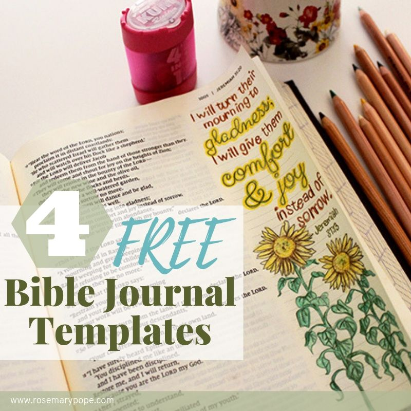 free bible journal templates