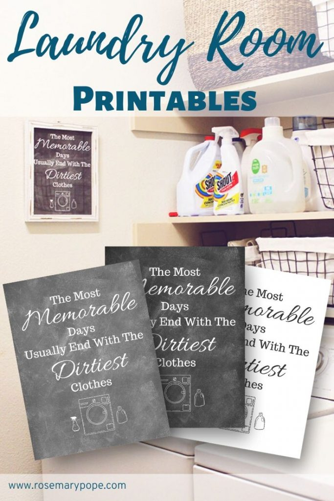 Cute Printable Laundry Room Signs Rosemary Pope