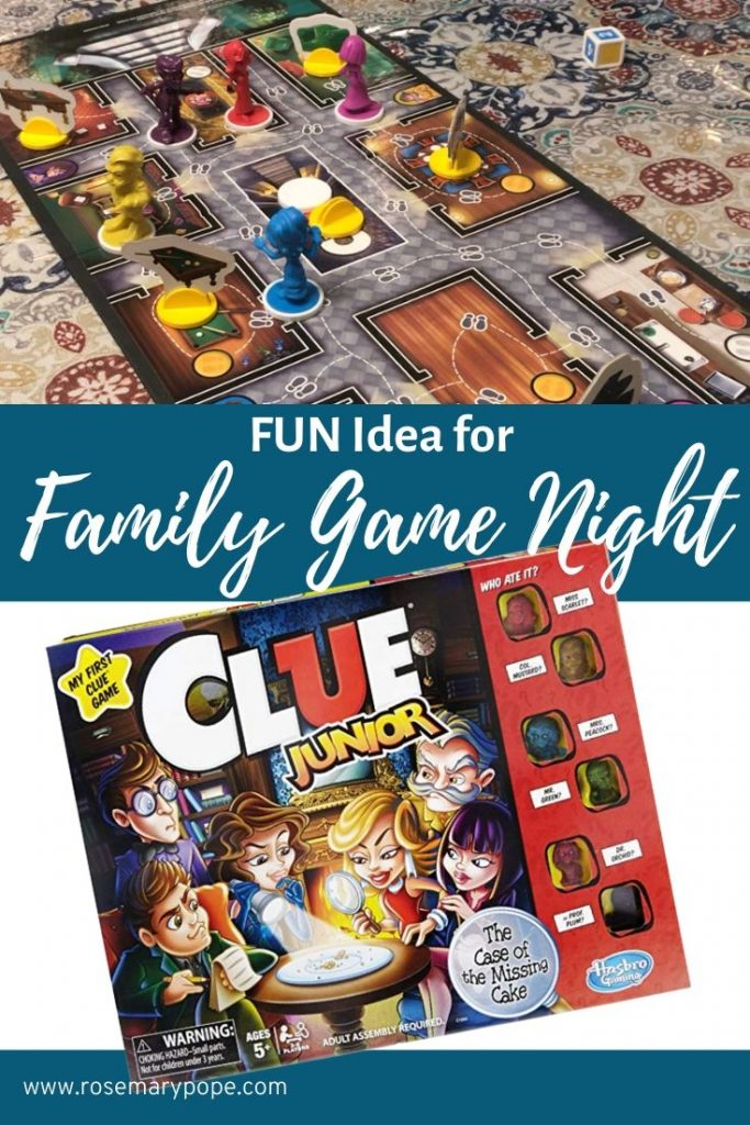clue jr family game night