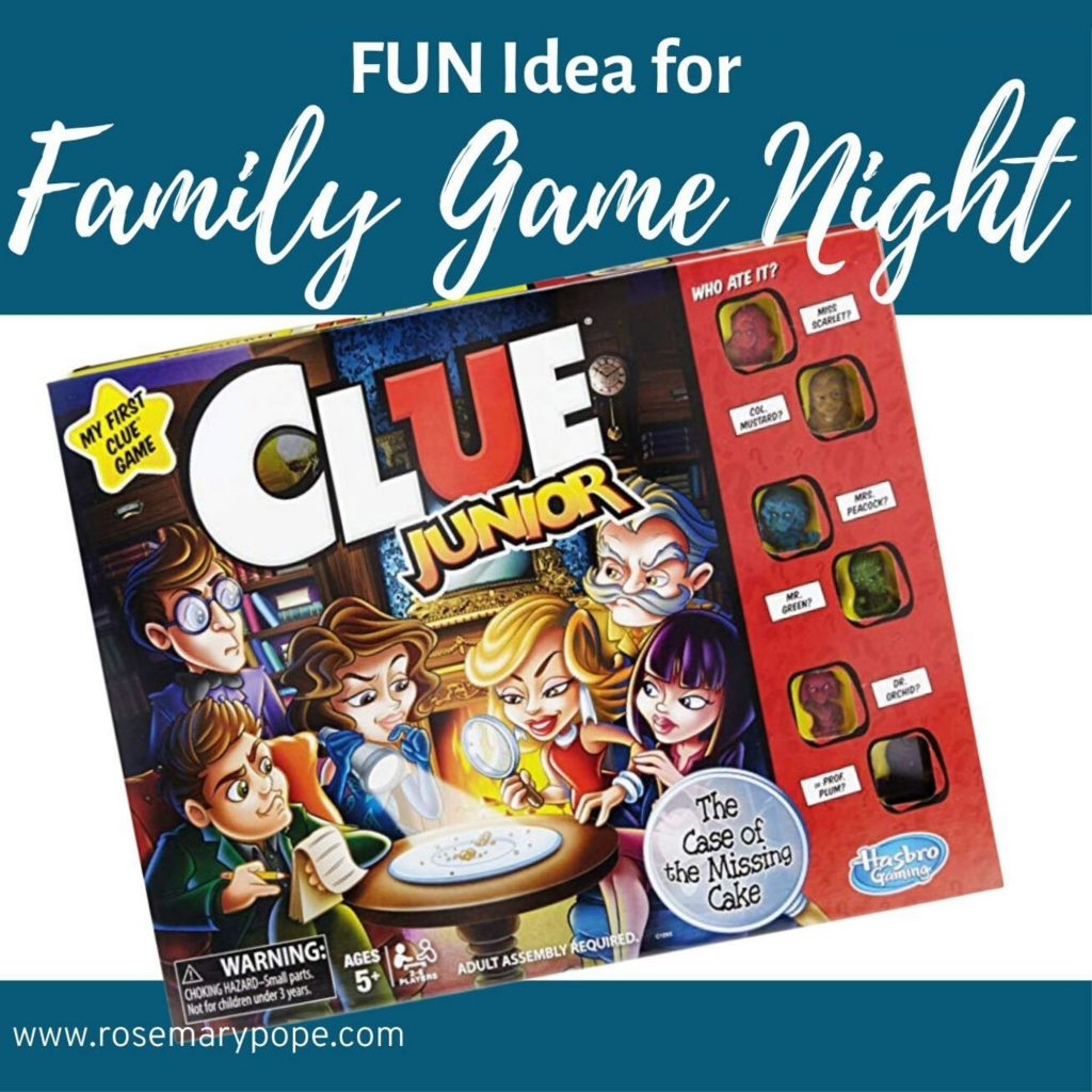 clue jr family game night idea