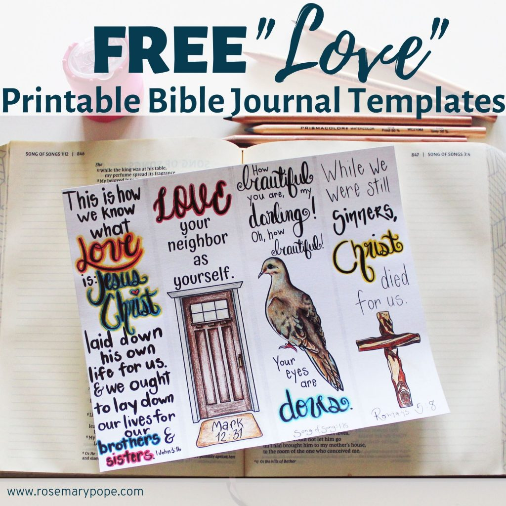 free love printable bible journal templates