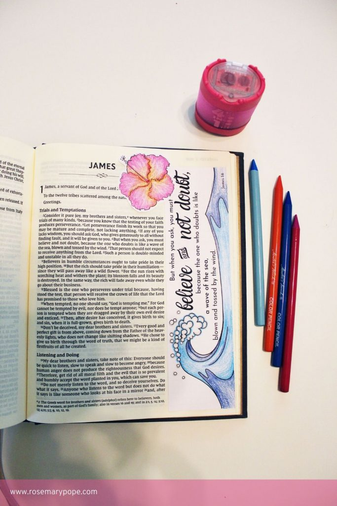 Bible Journal Templates James 1 6