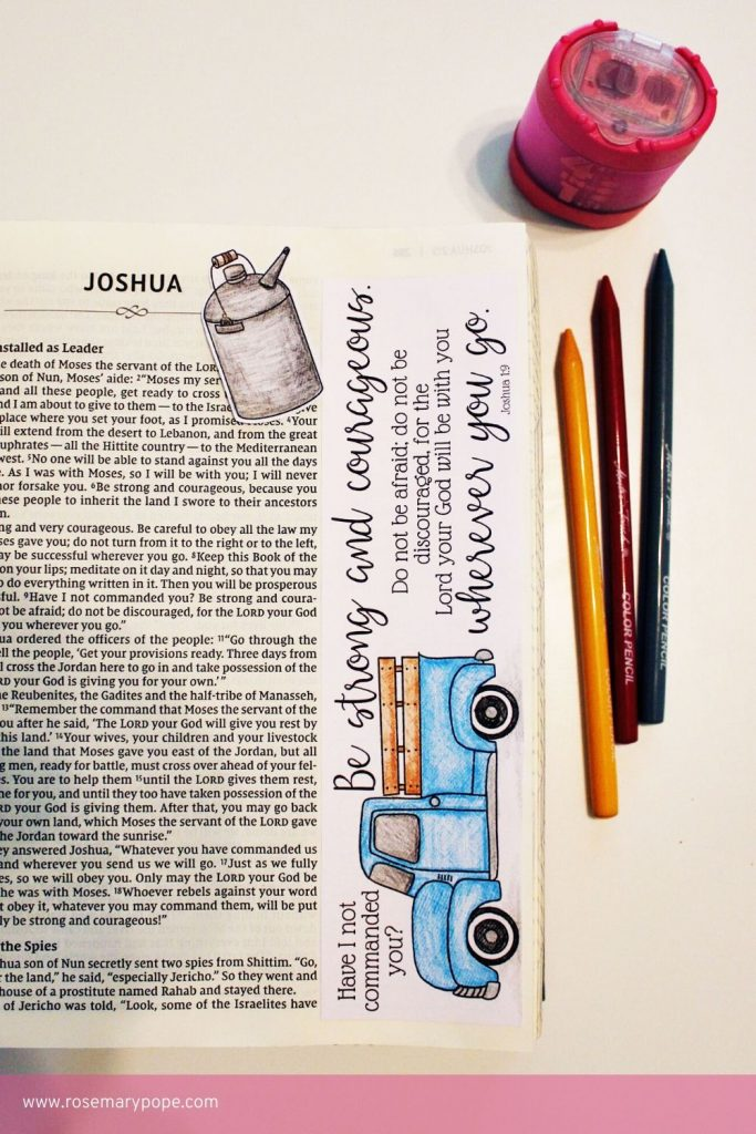 Bible Journal Templates Joshua 1 9