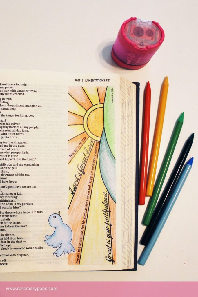 Bible Journal Templates Lamentations 3 22