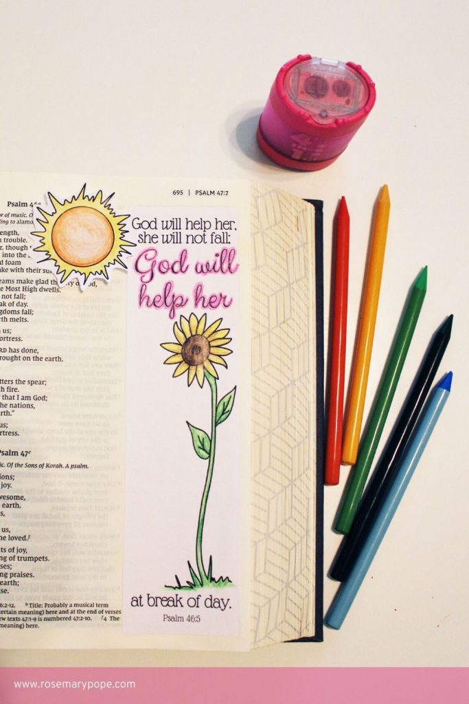 Bible Journal Templates Psalm 46 5