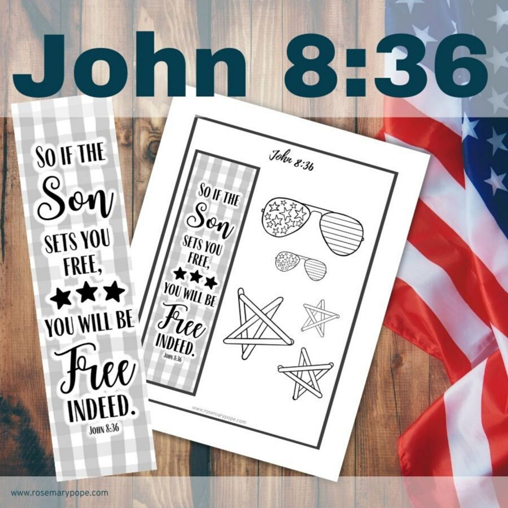 freedom bible journal template John 8:36