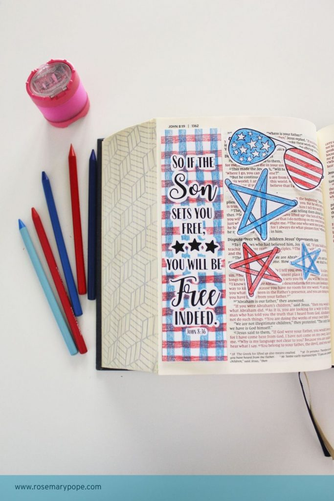 freedom bible journal template John 8 36
